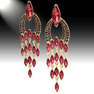 DL488403 Crystal Chandelier Earrings