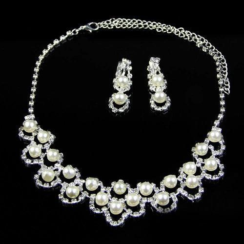 Pearl & Diamond Bridal Set