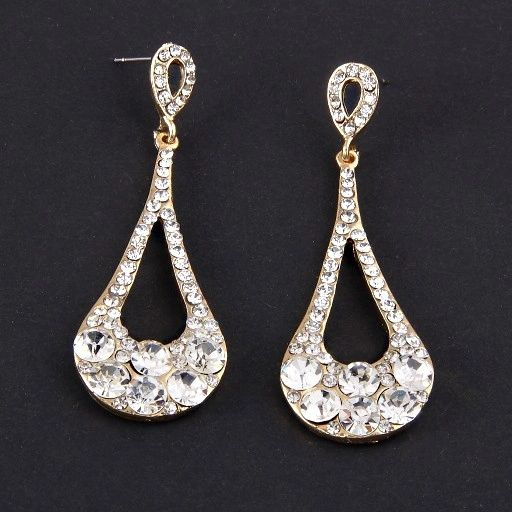DL1192294 Diamond Evening Earrings