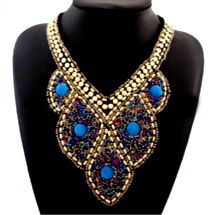 DL352485 Ethnic Beaded Necklace