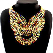 DL3521483 African Ethnic Beaded Necklace