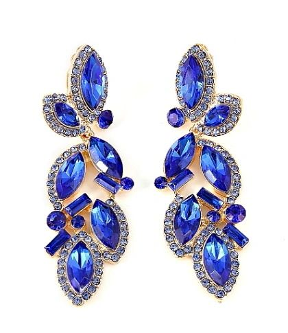 Sapphire Diamond Clip-on Earrings