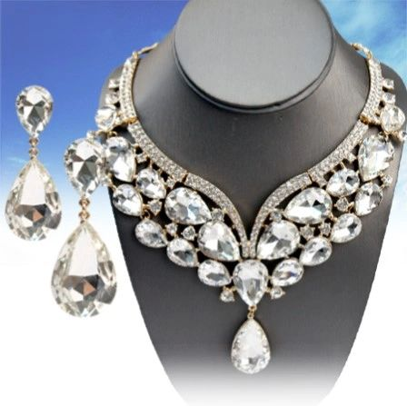 DL399501 Bridal Crystal Necklace Set