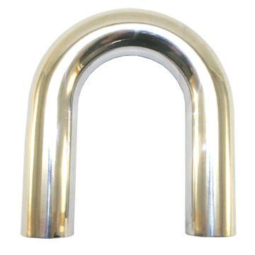 """2' Mandrel Bent Aluminum 180° Bend, 2.25"""""""