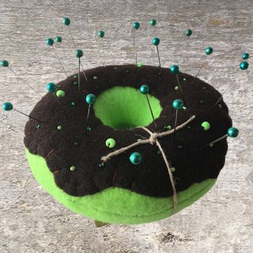 Meadow Treasures Donut Pincushion