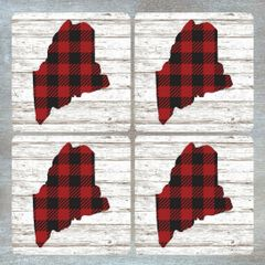 Buffalo Check Coaster Set - Customizable