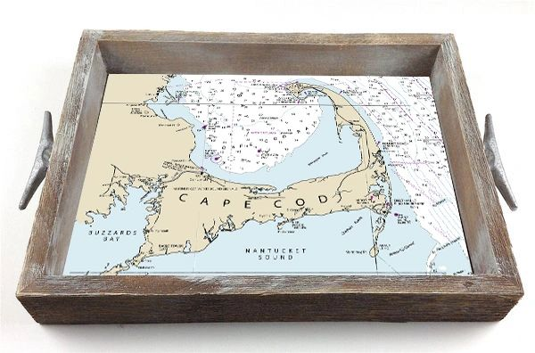 Nautical Chart (choose location) - Interchangeable Insert Serving Tray