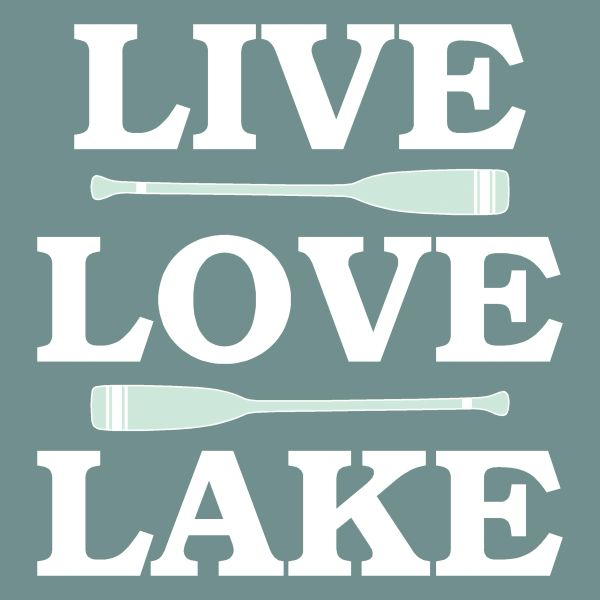 Live Love Lake - Wood Block (4 colors)