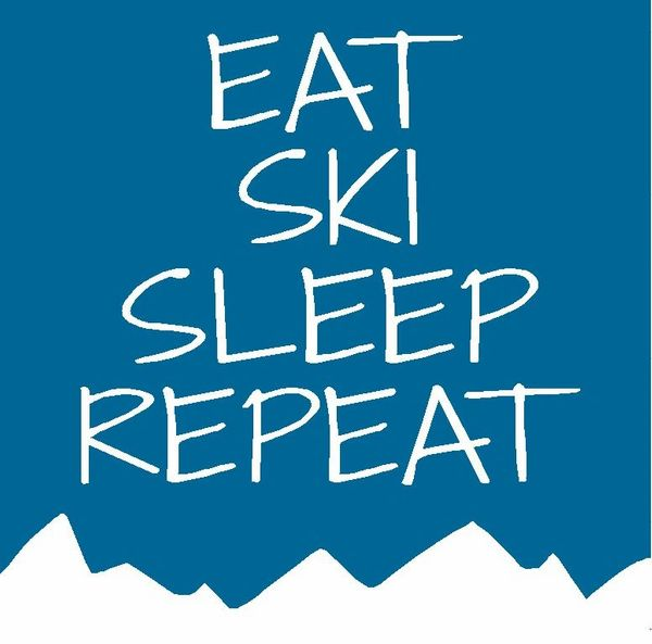 Eat Ski Sleep Repeat - Wood Block (3 colors)