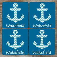 Anchor Coaster Set - Customizable