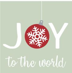 Joy to the World - 4x4 Block
