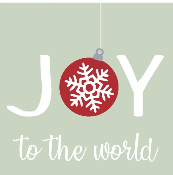 Joy to the World - 4x4 Block