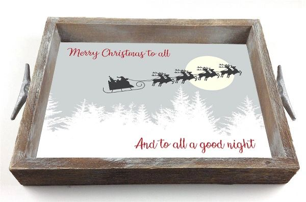 Santa's Sleigh - Serving Tray w/ Interchangeable Insert