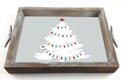Vintage Tree - Serving Tray w/ Interchangeable Insert