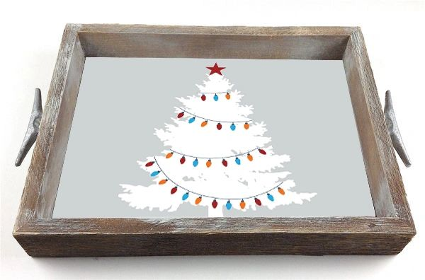 Vintage Tree - Interchangeable Insert Serving Tray