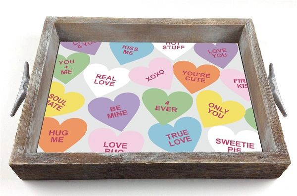 Valentine Hearts - Interchangeable Insert Serving Tray
