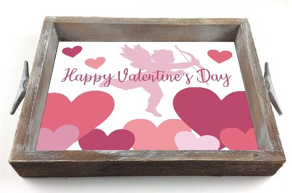 Valentine Cupid - Interchangeable Insert Serving Tray