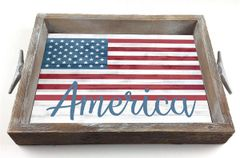 America - Serving Tray w/ Interchangeable Insert
