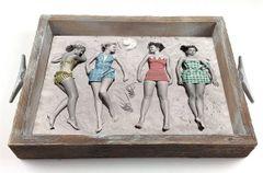 Vintage Girls - Serving Tray w/ Interchangeable Insert