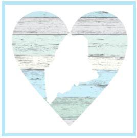Pastel Heart w/ Location - 4x4 Block