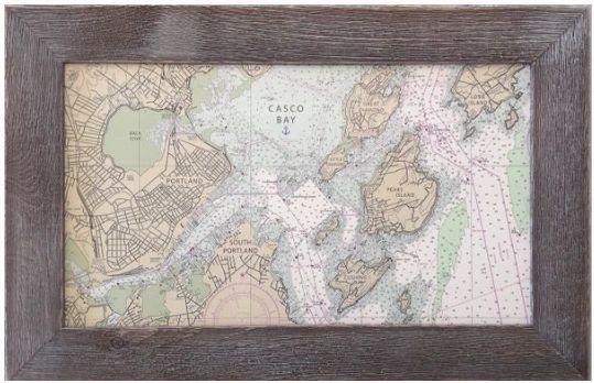 Custom Nautical Chart - Casco Bay