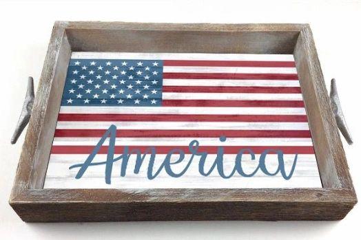 America - Serving Tray w/ Interchangeable Insert