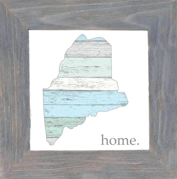 Maine Pastel with Home