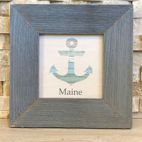 Pastel Anchor with Maine