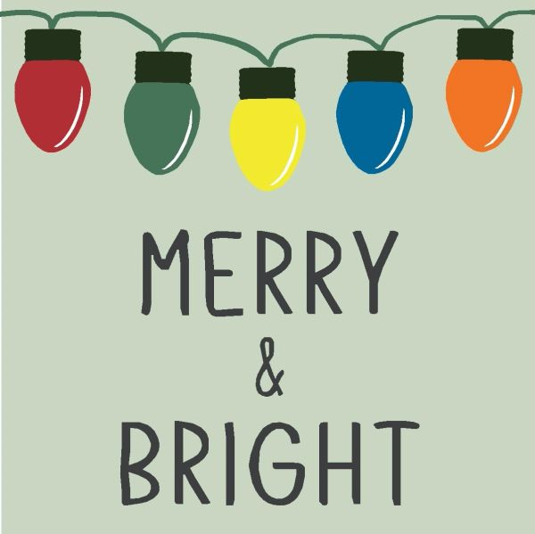 Merry & Bright - 4x4 Block