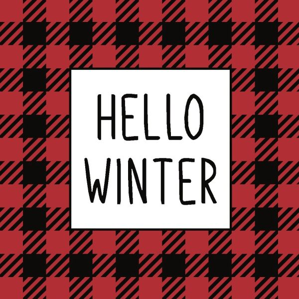 Hello Winter - 4x4 Block