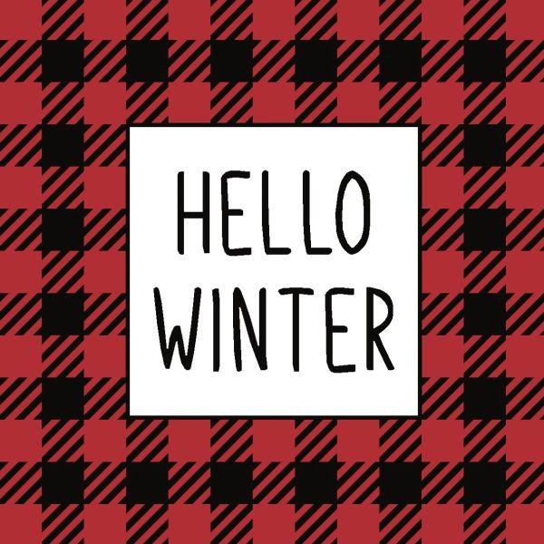Hello Winter - 4x4 Block