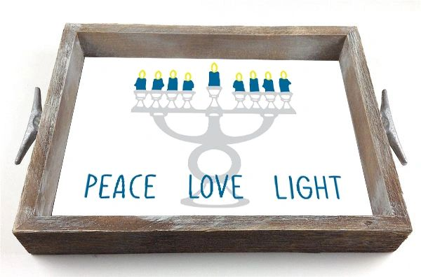Menorah - Interchangeable Insert Serving Tray
