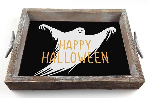 Halloween Ghost - Interchangeable Insert Serving Tray