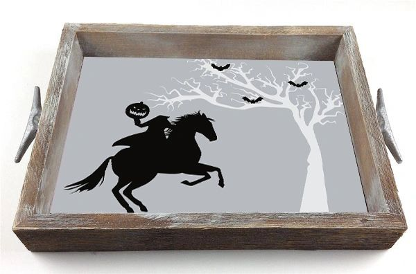 Halloween Horseman - Interchangeable Insert Serving Tray