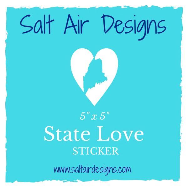 State Love Sticker