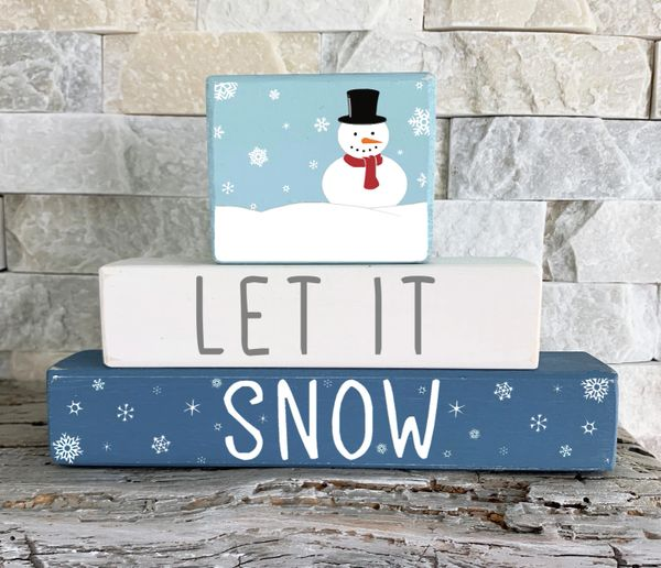 Let it Snow Stacker (choose topper)