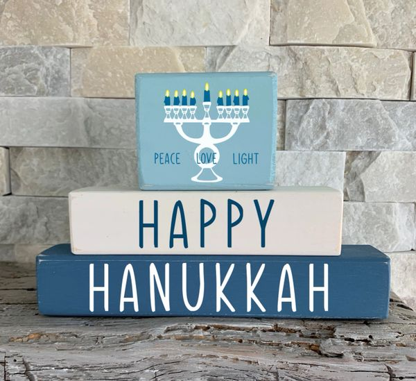 Happy Hanukkah Stacker