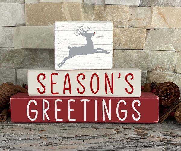 Seasons Greeting Stacker (choose topper)