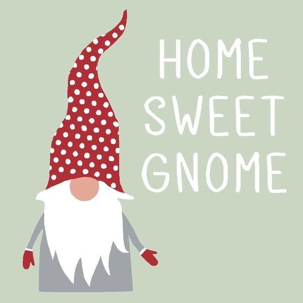 Home Sweet Gnome - 4x4 Block