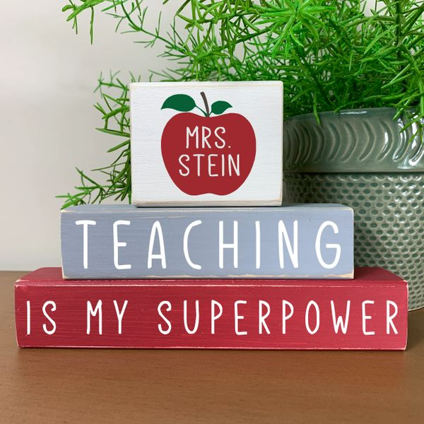 Teacher Appreciation Stacker