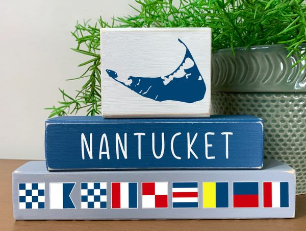 Nautical Flag Stackers (more toppers)