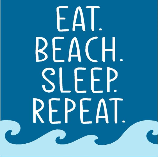 Eat Beach Sleep Repeat - Wood Block (4 colors)