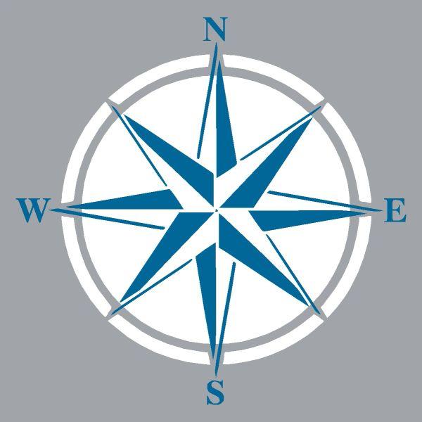 Compass Rose - Wood Block (4 colors)
