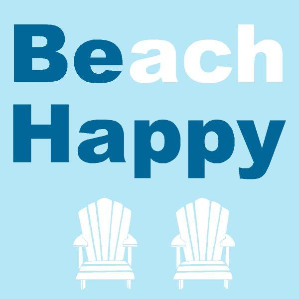 Beach Happy - Wood Block (3 colors)