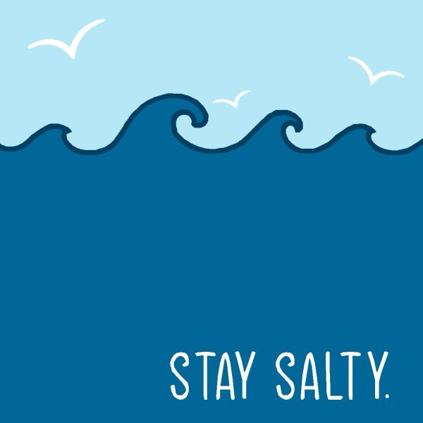 Stay Salty - Wood Block
