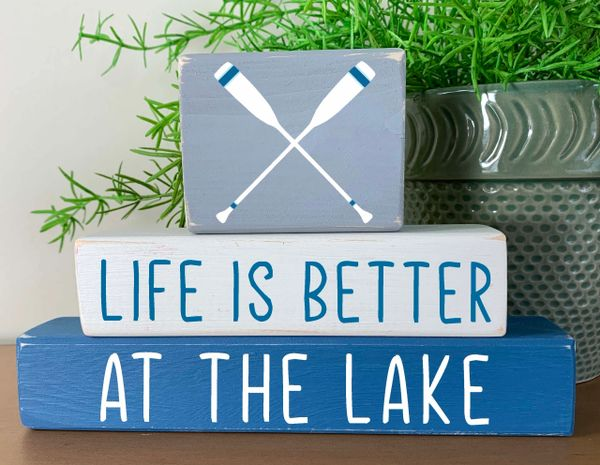 Life is Better at the Lake (more toppers)