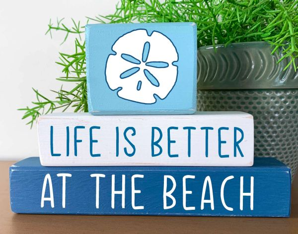 Life is Better at the Beach (more toppers)