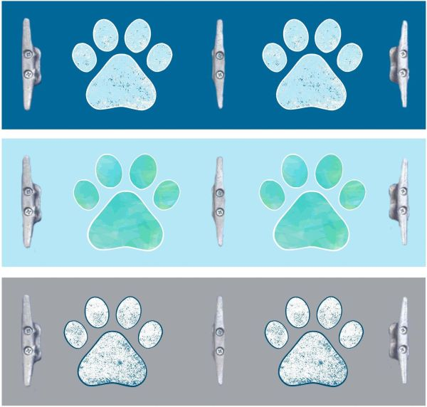 8x24 Paws with Boat Cleats (3 colors)