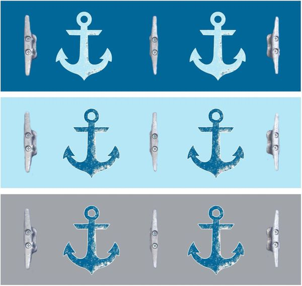 8x24 Vintage Anchors (3 colors)