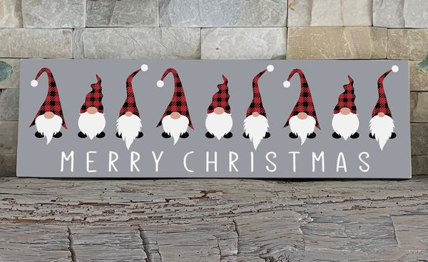 Sign - Merry Christmas Gnomes